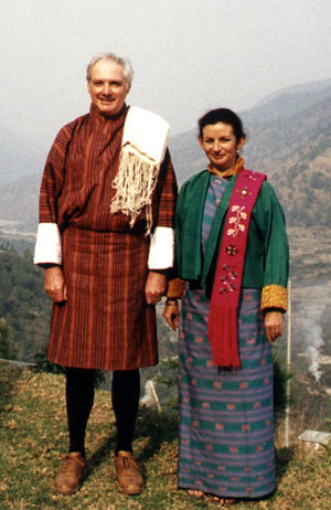 In formal Bhutanese dress