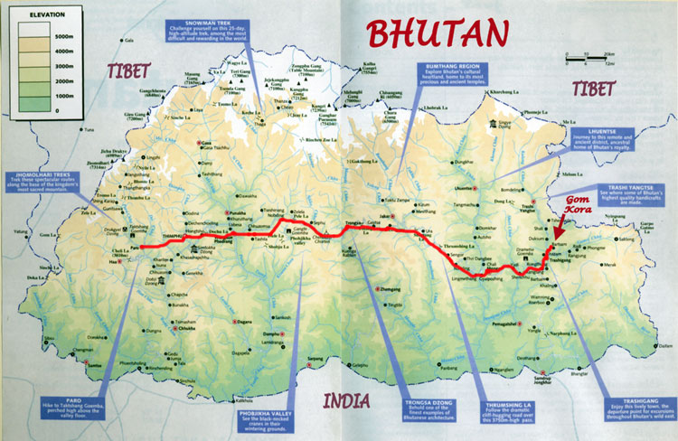 Bhutan Maps Images Images of Bhutan 2004