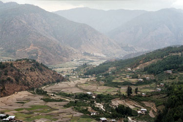 View down valley from Dzong Drakha