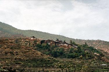 Town opposite Wandu Phodrang