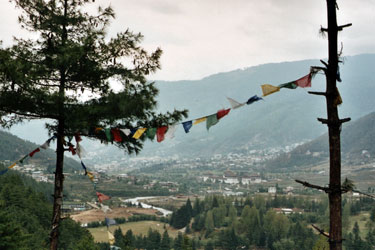 Thimphu from the north