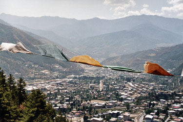 Thimphu from above