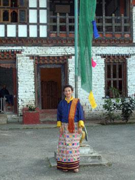 Sheila at Pema gatshel Dzong
