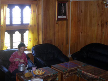Breakfast in the Head Lama's sittingroom