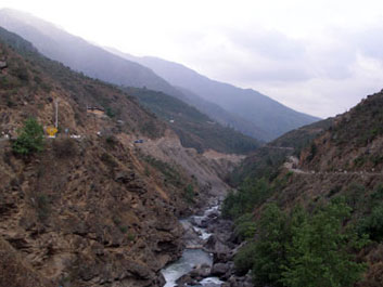 Road south of Thimphu