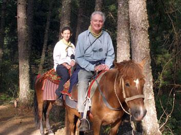 Derek & Sheila on horseback