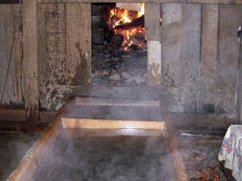 Hot stone bath house