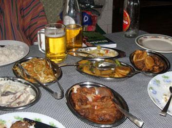 Bhutanese meal