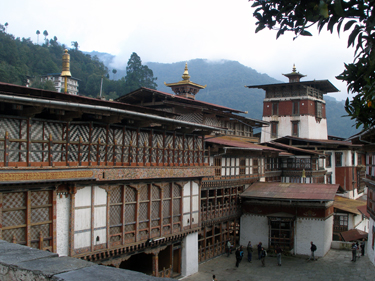 Courtyard in Trongsa Dzong