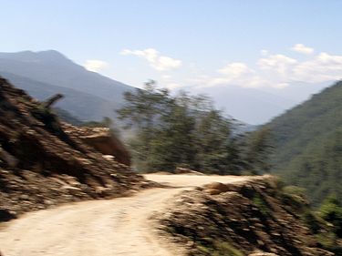 Unmade mountain road