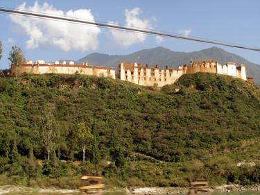 Wangdue Dzong ruins