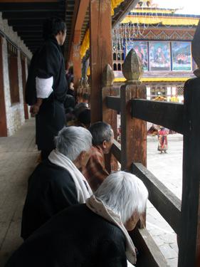 Villagers enjoying the festivities