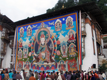 Giant banner of Guru Rinpoche