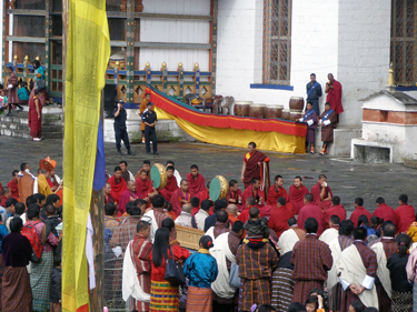 Monks performing ceremony