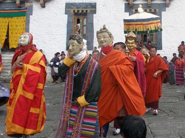 Guru Rinpoche parades