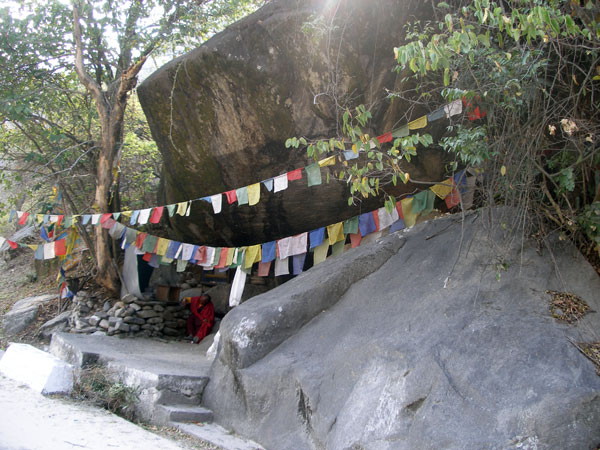 Guru Rimpoche meditation cave near Gomphu Kora