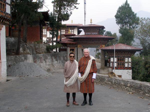 Derek & Karma at Trashigang Dzong