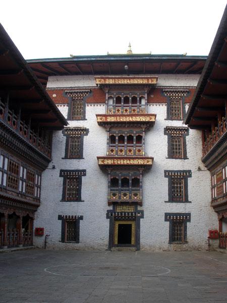 Inner courtyard of dzong