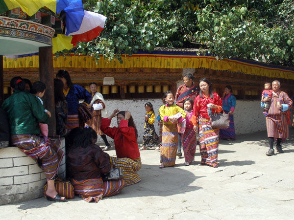 Bhutanese people in best clothes