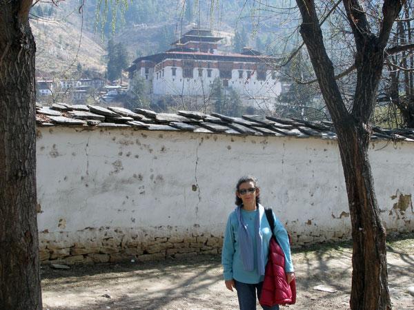 Sheila & Paro Dzong