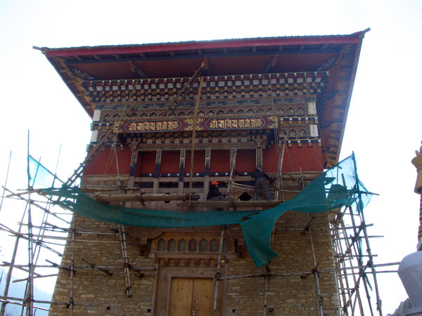 Chorten being renovated