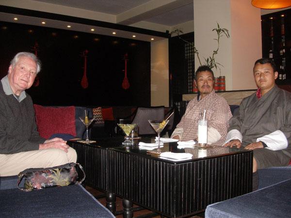Derek, Karma & Kinley in the Taj Tashi