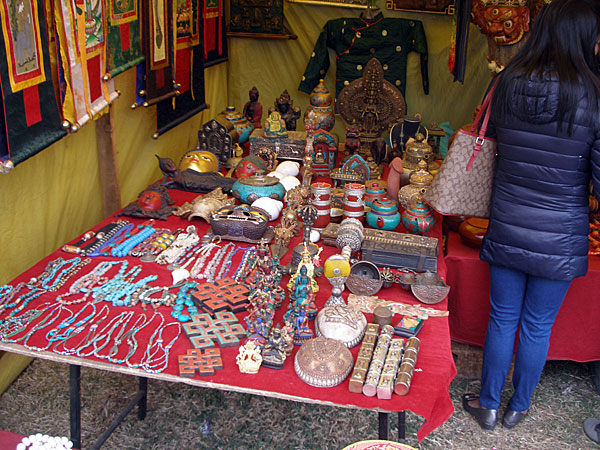 Stall selling religious items