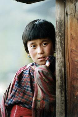 Girl at monastery
