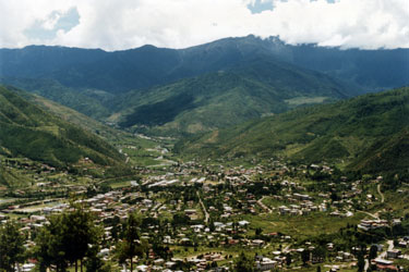 Thimphu from above`