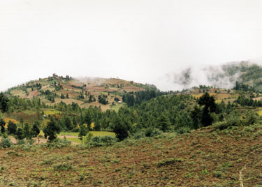 Countryside in central Bhutan