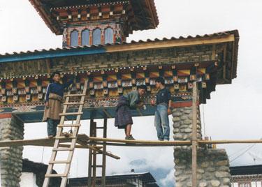 Renovating Mongar gate