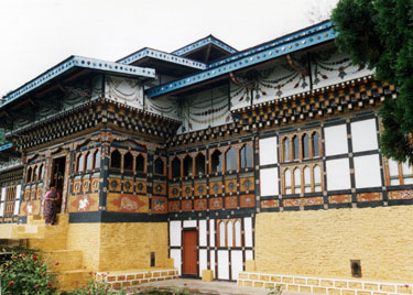 The King's lodge in Mongar