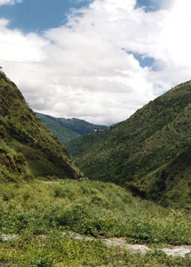 Tashigang in the distance
