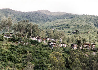 Houses above Tashigang