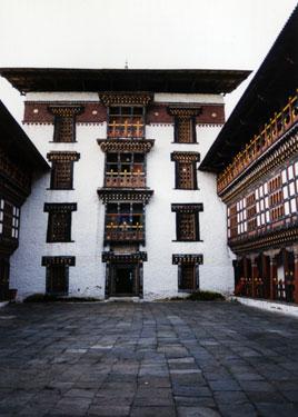 Tashigang Dzong courtyard