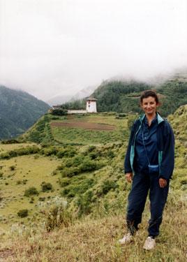 Sheila in Haa Valley