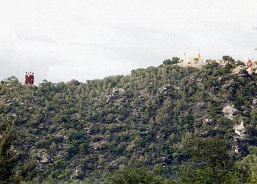 Hilltop temple & figures