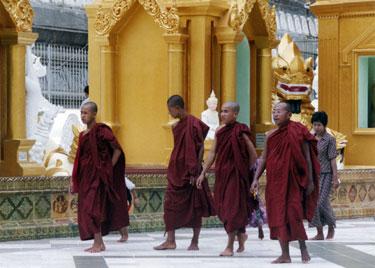Monks in Schwedagon