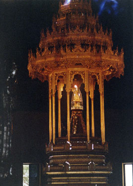 Casket containing hair of the Buddha