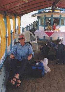 Derek on boat