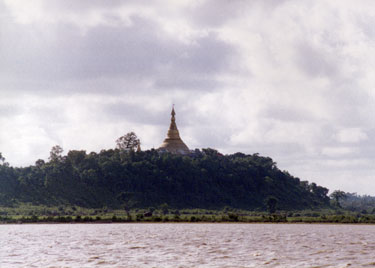 Temple on river bank