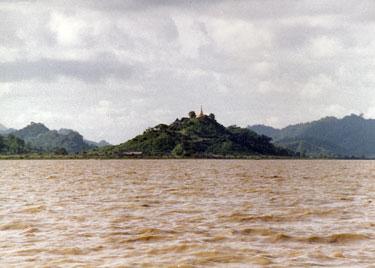 Temple near river