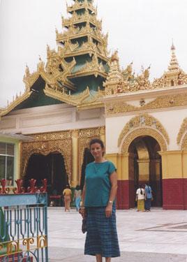Sheila in temple courtyard]