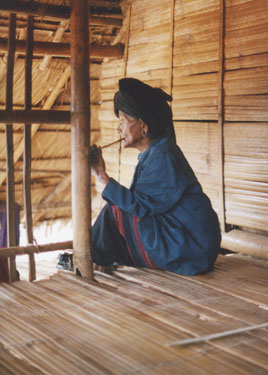 Old hill tribe lady