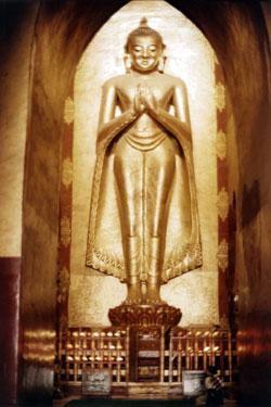 Buddha image at Bagan