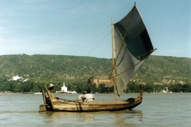 Boat on Ayerwaddy River