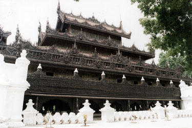 Old wooden temple