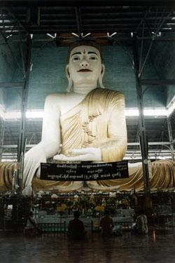 Seated Buddha in Rangoon