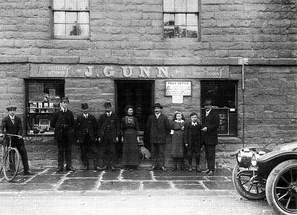 Group outside Lybster Post Office c1920
