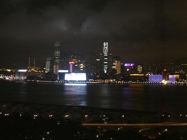 Harbour night scene